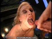 Busty Blonde Slut Gets Horny Sucking