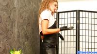 Lez Jenna Lovely Handling Strapon