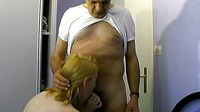 The Woman Pulled The Man S Chest Cum