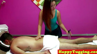 Masseuse Asian Tugging Client Cock