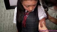 Busty Japanese Schoolgirl Mouth Fucked