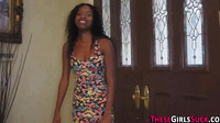 Ebony Teen Cum Sprayed