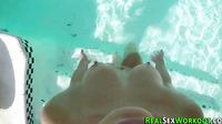 Teen Jizzed On By Pool