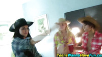 Real Teen Cowgirl Spunked