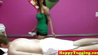 Tugging Asian Masseuse Gets Fucked On Table