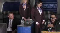 Flight Attendant Femdoms Pussyfucked