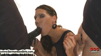 Brunette With Big Tits Gets Jizz Soaked