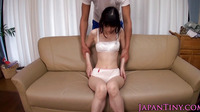 Small Japanese Babe Moans Loudly