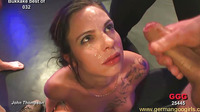 A Blonde And Three Brunettes Get Fucked