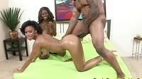 Two Hot Ebony Screwed By A Black Guy