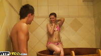 Naked Girls Party In A Sauna Part 8