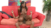 Big Tits Ebony Nailed By A Huge Dick And Got A Facial