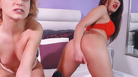 Horny Lesbians In A Hot Titty And Pussy Play