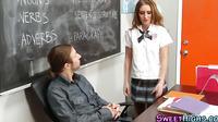 Uniform Teen Jizz Faced