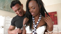 Ebony Pornstar London Fucked On Sofa Closeup
