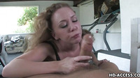 Sexy Redhead Slut Gives A Good Blowjob