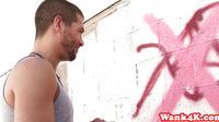 Cumlicking Tattooed Artgirl Showing Creampie
