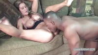 Busty Wife Leeanna Heart Sucking Some Black Cock2