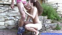 Blowjob Loving Brunette Outdoor